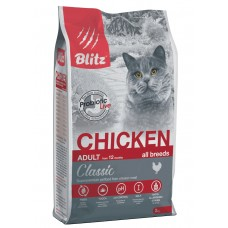 BLITZ STERILISED CATS CHICKEN корм д/кошек стерил  с Курицей/10кг +когтеточка 50*24 в подарок  (00390228   )