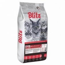 BLITZ ADULT CAT BEEF /сухой корм для взрослых кошек Говядина/10кг + Когтеточка для кошек 50*24 в подарок (00390229   )