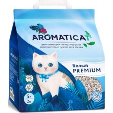 AromatiCat PREMIUM БЕЛЫЙ 5л (2кг) Впитывающий гигиенический наполнитель  (00390597   )