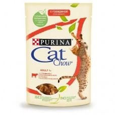 CAT CHOW 85,0 пауч д/кошек в желе Гов&Бак 1/26 (00390685   )