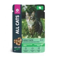 ALL CATS 85,0 д/кош. тефтельки с кроликом в соусе, пауч, 1/25 (00390843   )