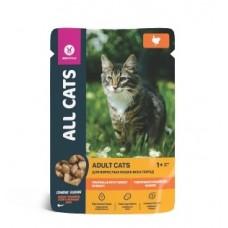 ALL CATS 85,0 д/кош с индейкой в соусе пауч 1/25  новинка (00390844   )