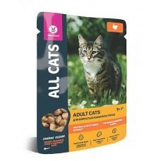 ALL CATS 85,0 д/кош. тефтельки с индейкой в соусе, пауч, 1/25 (00391097   )