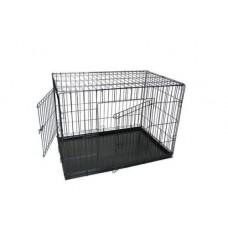 Клетка д/соб 121*78*83 см (складная)  №7 метал.поддон  (00391339   )