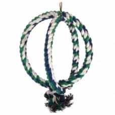 Игрушка д/птиц Триол 2 веревки 2 кольца хлопок 0247 ХJ