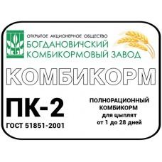 Комбикорм ПК-2 цыпл. от 1до28 дней 1/40кг (00008916   )